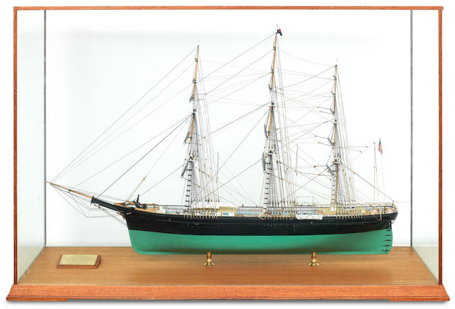 A ships model of the clipper 'Flying Fish' by Zakoske Scale Models Ltd, Hong Kong