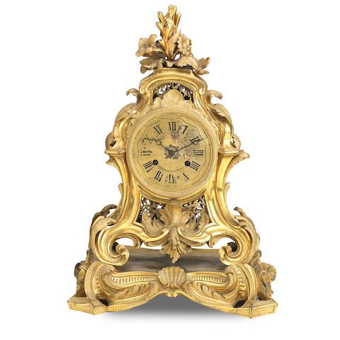 A 19th century ormolu mantel clock Stamped Raimgo A Paris