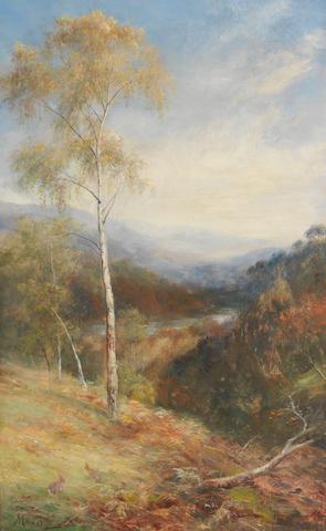 John MacWhirter, RA HRSA RI RE (British, 1839-1911) Chisholm Pass, Glen Affric