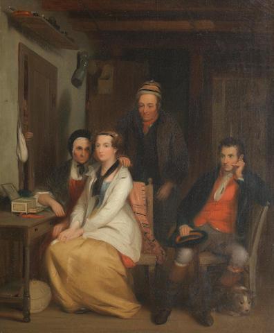 After Sir David Wilkie, RA The Refusal, taken from Robert Burns poem Duncan Gray