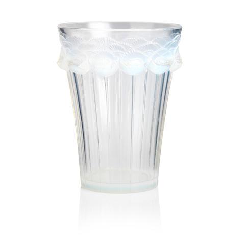 René Lalique:  'Boutons D'Or' an opalescent glass vase  Design 1933
