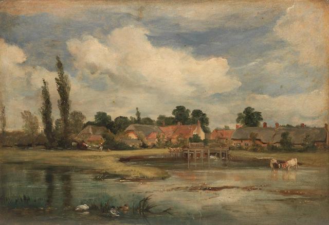 William Simson (British, 1800-1847) English Village - Suffolk