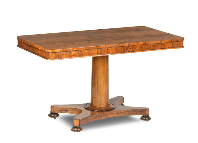 An early 19th century and later rosewood breakfast table
