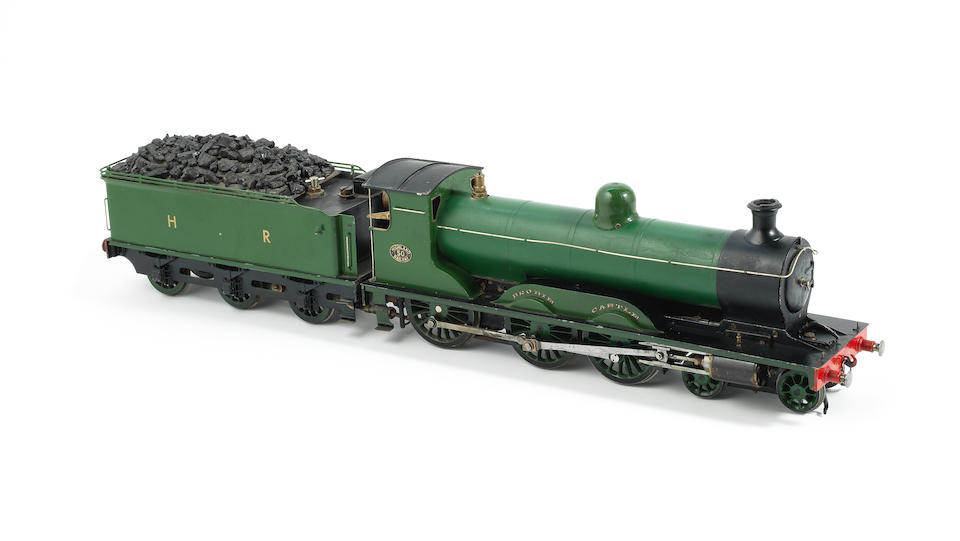 A 1½ inch guage live steam model of the Highland Railway 4-6-0 locomotive and tender 'Brodie Castle',