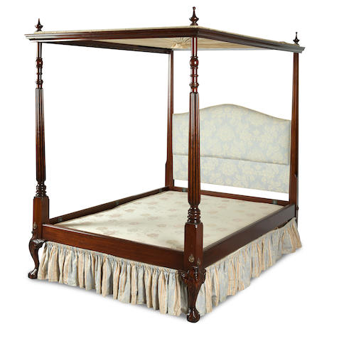 An 18th century style mahogany four poster bed