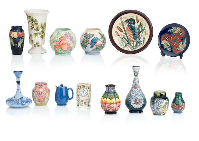 A group of modern Moorcroft pottery