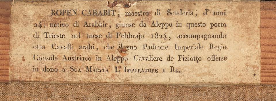 Felice Schiavoni (Italian, 1803-1881) Portrait of Ropen Carabit