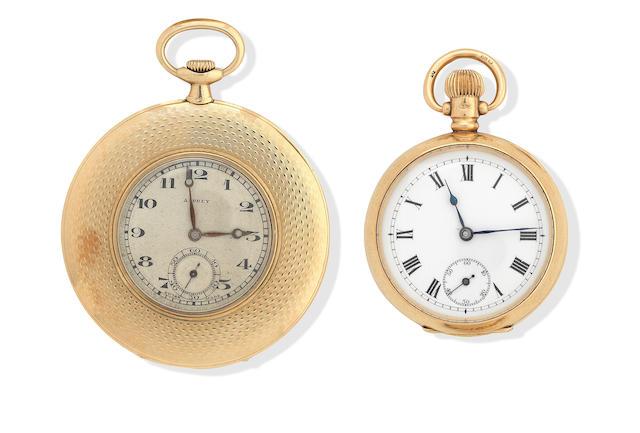 Asprey: An 18K gold lady's pocket watch