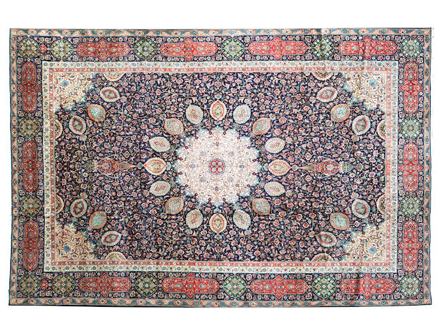 A large Tabriz carpet 503 x 358cm