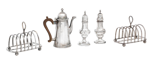 A collection of silver tableware various makers and dates