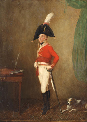 English School, early 19th century Full-length portrait of an officer of the 3rd (Prince of Wales's) Regiment of Dragoon Guards, circa 1806