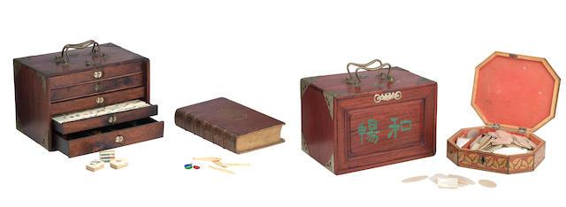 Two early 20th century Mah-Jong sets (4)