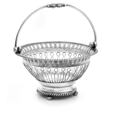 A George III silver fruit basket by Thomas Watson & Co, Sheffield 1812