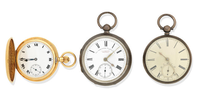 An 18K gold key wind full hunter pocket watch London, 1926