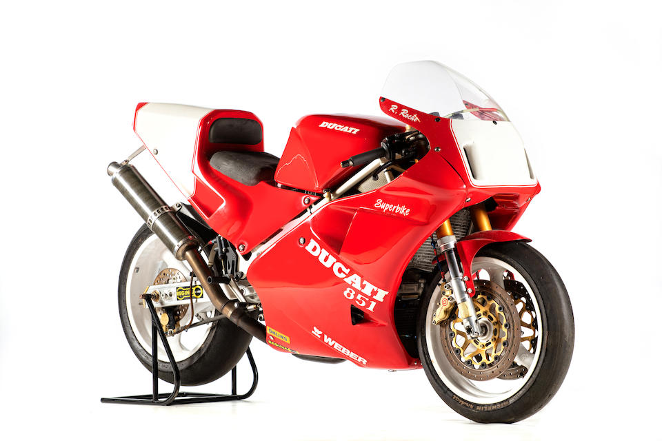 c.1990 Ducati 888cc '851 Superbike' Racing Motorcycle Frame no. none visible Engine no. ZDM888W4001409