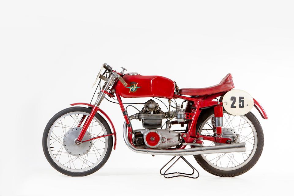1954 MV Agusta 123.5cc Monoalbero Racing Motorcycle Frame no. 150163 Engine no. 150162