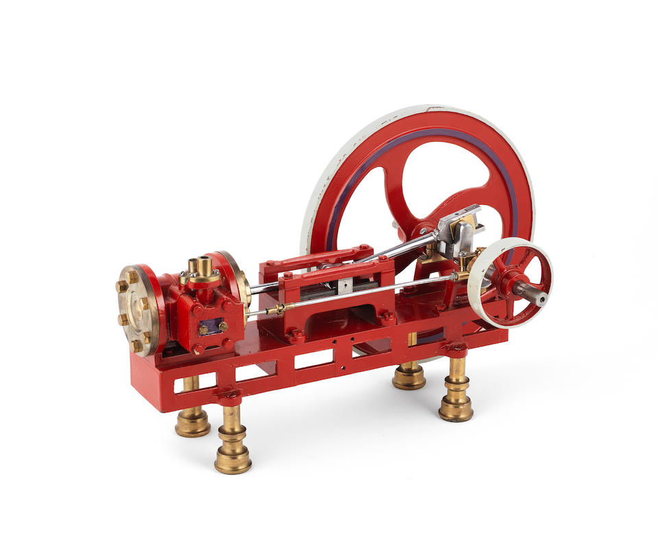 A live steam model of a horizontal mill engine, 20th century,