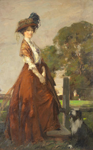 James Wallace (British, 1872-1911) 'The Rendezvous'