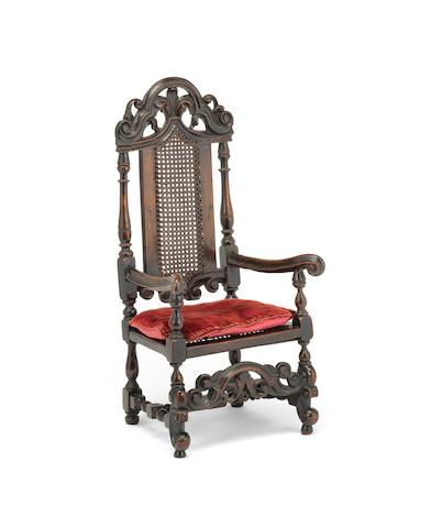 MINIATURE FURNITURE - A Queen Anne walnut armchair