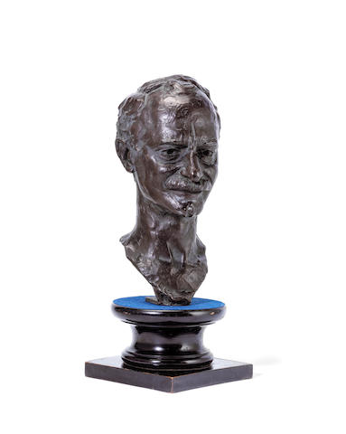 Gustinus Ambrosi (Austrian, 1893-1975): A patinated bronze bust of a gentleman