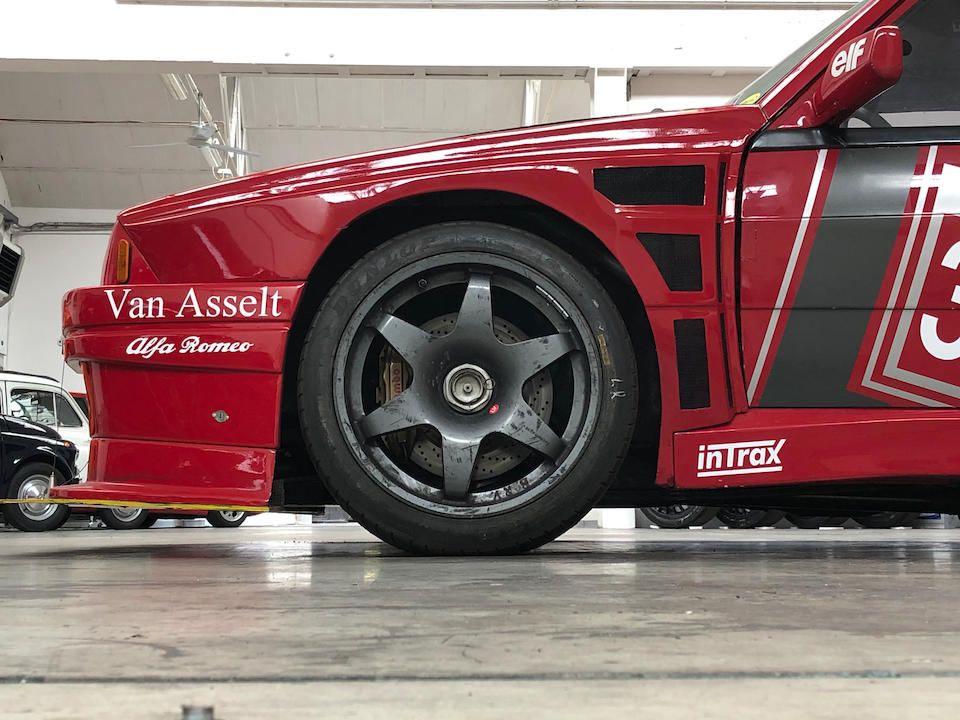 Ex-Bob van der Sluis,1987  Alfa Romeo  75 Turbo Evoluzione A1/IMSA Specification   Chassis no. 33275601/AR  026