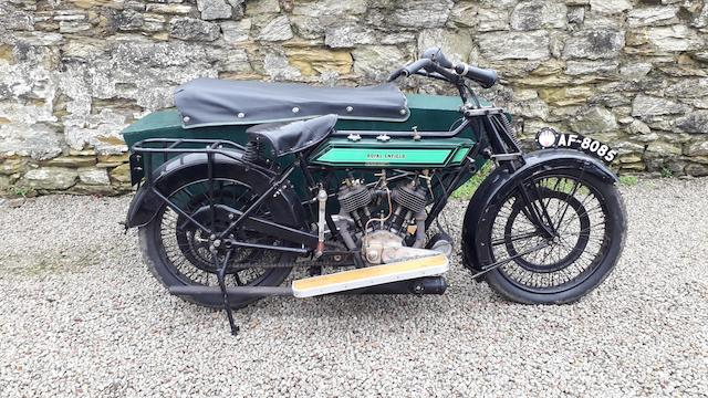 1924 Royal Enfield 8hp Motorcycle Combination Frame no. 21522 Engine no. 2406 2749W