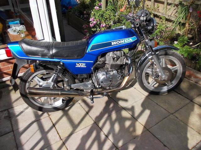 1979 Honda CB400N Super Dream Frame no. CB400N 2007101 Engine no. CB400NE 2007112