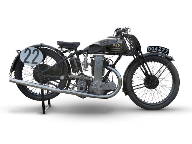 The ex-Les Williams, 1930 AJS 350cc R7 Racing Motorcycle