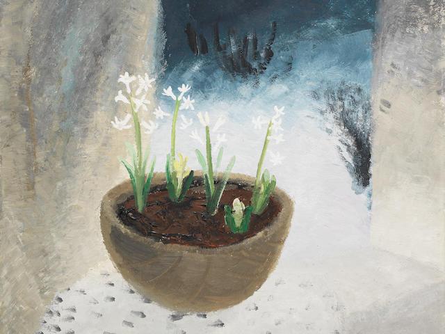 Winifred Nicholson (British, 1893-1981) Candlemas I 60.8 x 61.2 cm. (24 x 24 1/8 in.)