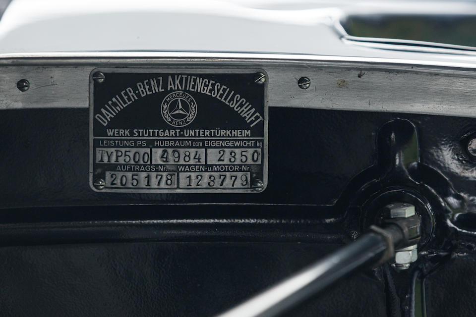 First owned by Henry Garat ,1935 Mercedes-Benz 500K Cabriolet A   Chassis no. 123779