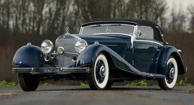 First owned by Henry Garat, 1935 Mercedes-Benz 500K Cabriolet A Chassis no.  123779