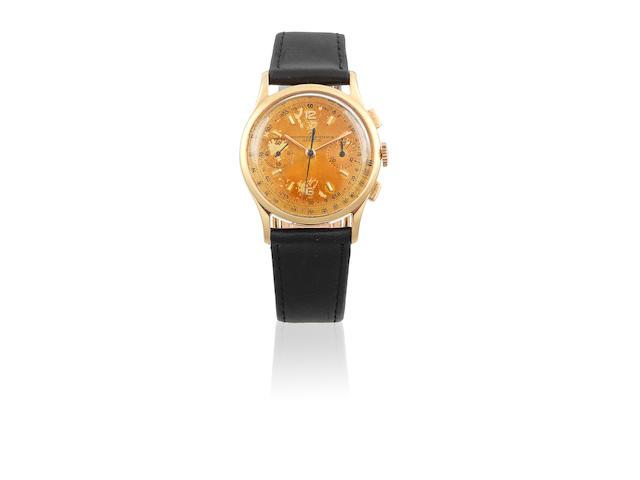Vacheron & Constantin. A fine 18K gold manual wind chronograph wristwatch Ref: 4072, Circa 1945