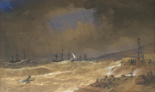 Thomas William Bowler (British, 1812-1869) Squally conditions in Table Bay, South Africa