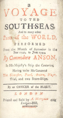 OFFICER OF THE FLEET A Voyage to the South-Seas, and to Many Other Parts of the World, Performed from the Month of September in the Year 1740, to June 1744... by An Officer of the Fleet, 2 parts in 1 vol., 8vo; and 2 others, sold not subject to return (5)