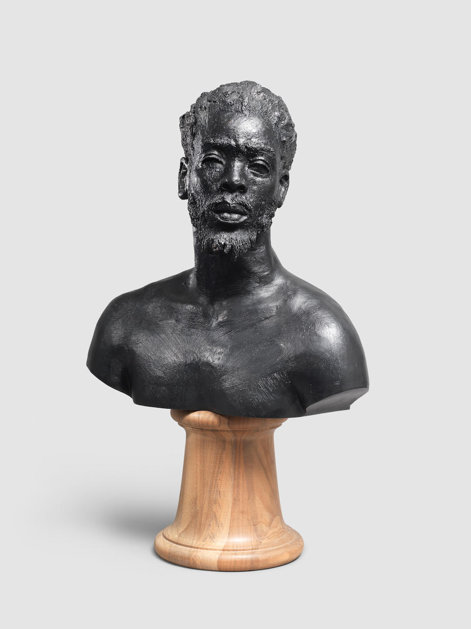 Mohau  Modisakeng (South African, born 1986) Untitled (Lefa bust), 2017 76.5 x 48 x 25cm (30 1/8 x 18 7/8 x 9 13/16in). including base.