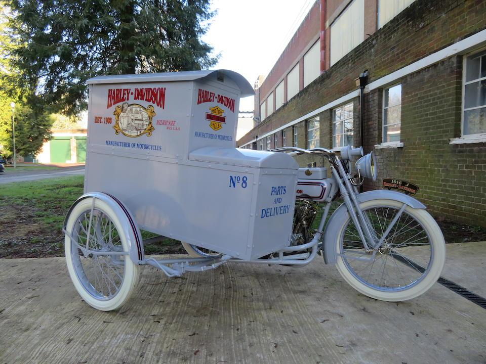 1916 Harley-Davidson 1,000cc Model J & Package Truck Sidecar Frame no. L9034M Engine no. L9034M