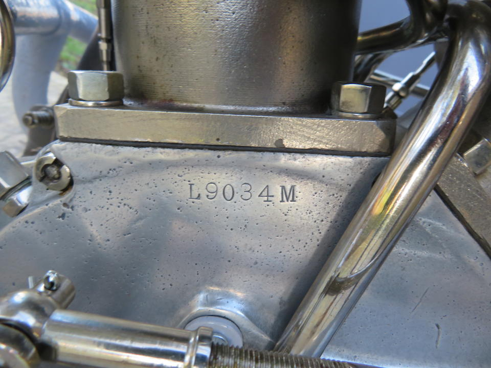 1916 Harley-Davidson 1,000cc Model J & Package Truck Sidecar Frame no. L9034M Engine no. L9034M