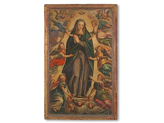 Attributed to Bernardo Bitti (Camerino 1548-1610 Lima, Peru) The Immaculate Conception