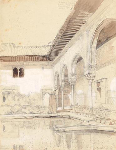 John Frederick Lewis, RA, POWS (British, 1804-1876) Patio de los Arrayanes, Alhambra