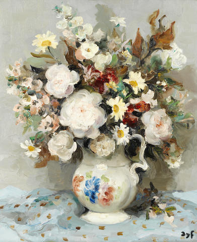 Marcel Dyf (French, 1899-1985) Roses et anthémis (Painted in 1960)