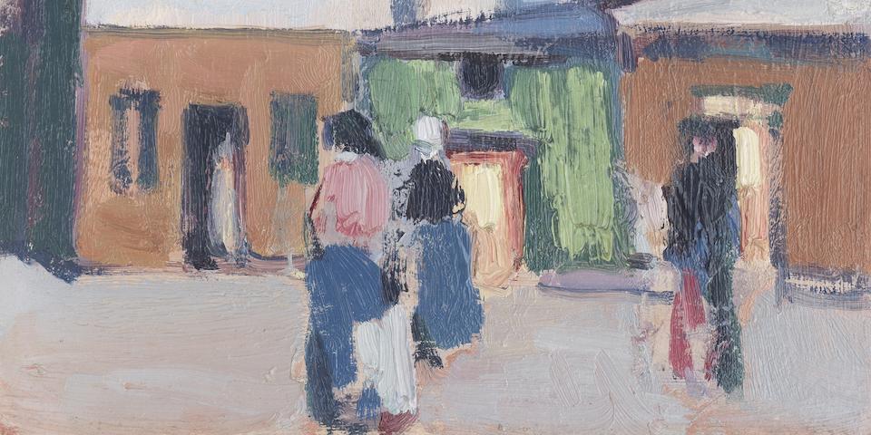 John Duncan Fergusson RBA (British, 1874-1961) Paris street scene 35 x 27 cm (13 3/4 x 10 5/8in.)
