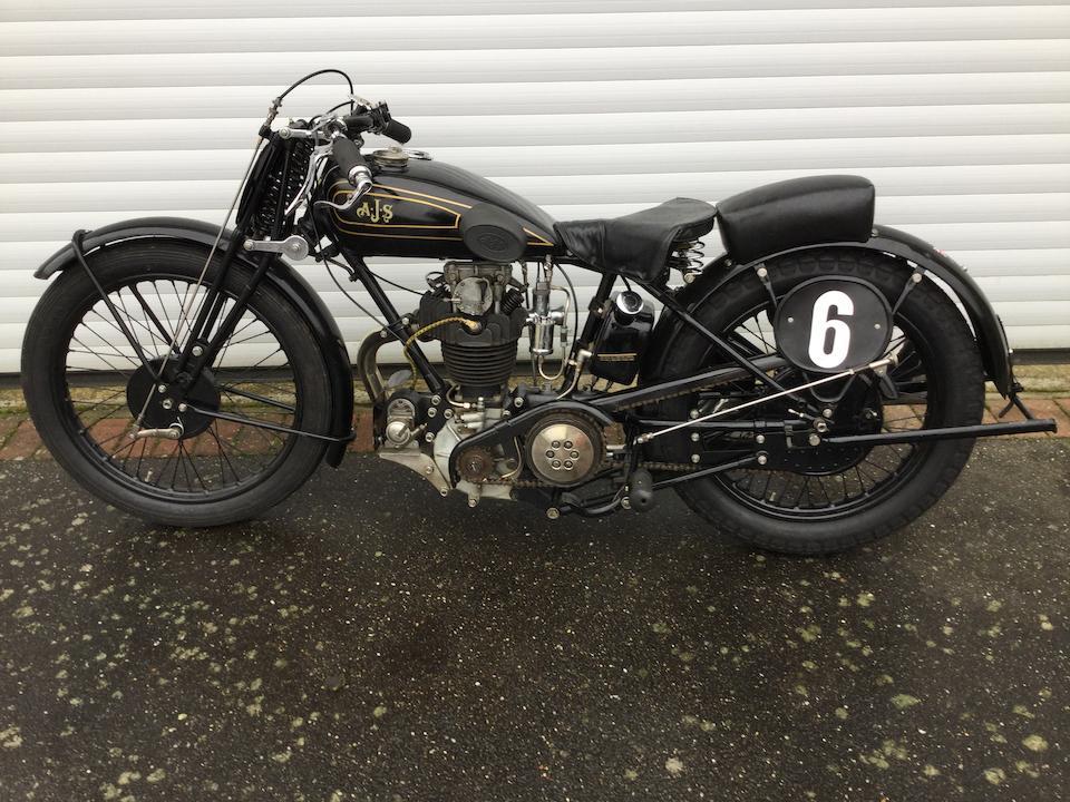 c.1930 AJS 350cc R7 Frame no. M126165 Engine no. R7/145258