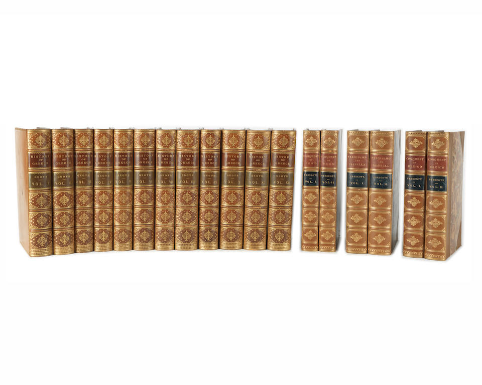 BINDINGS KINGLAKE (ALEXANDER WILLIAM) The Invasion of the Crimea, 8 vol., FIRST EDITION, William Blackwood, 1863-1887--GROTE (GEORGE) History of Greece, 12 vol., 8vo (36)