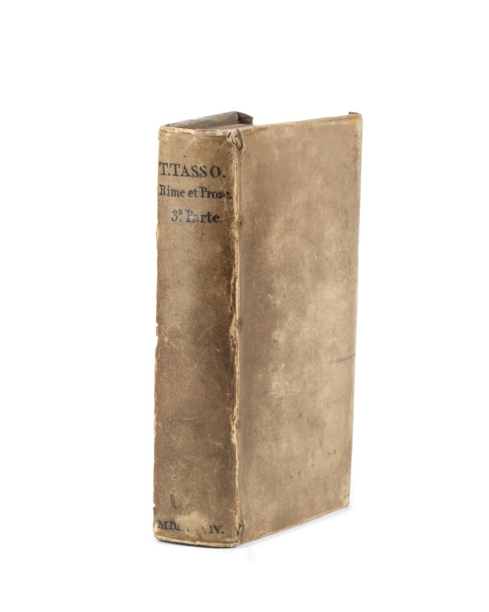 RALEIGH (WALTER) TASSO (TORQUATO) Rime et prose del signor Torquato Tasso. Parte terza, WALTER RALEGH'S COPY, Venice, [Vittorio Baldini], appresso Giulio Vasalini, 1584
