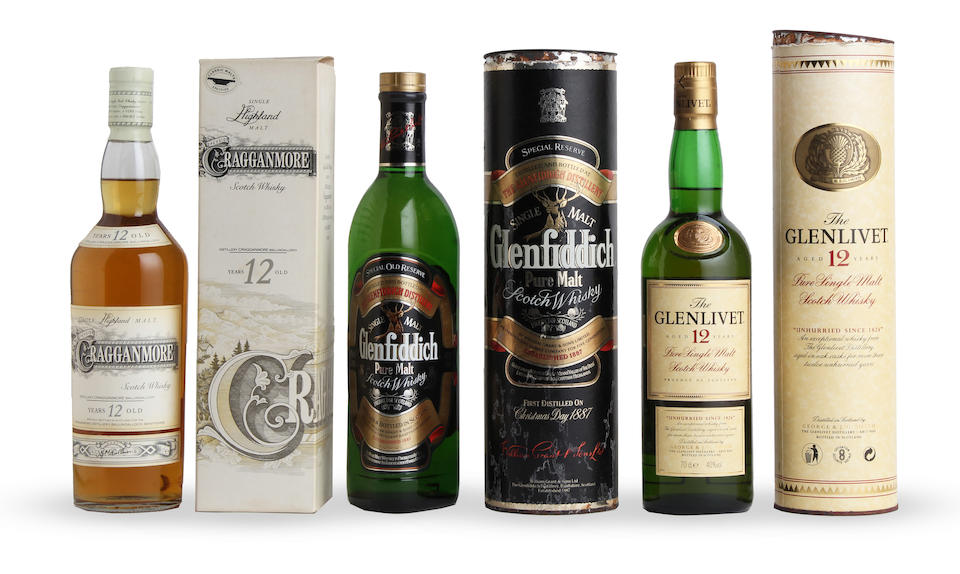Dufftown-Glenlivet-8 year old Dalwhinnie-15 year old  Royal Lochnagar-12 year old Royal Lochnagar-12 year old The Glenlivet-12 year old Cragganmore-12 year old Glengoyne-10 year old Aberlour-10 year old Glenfiddich Special Old Reserve