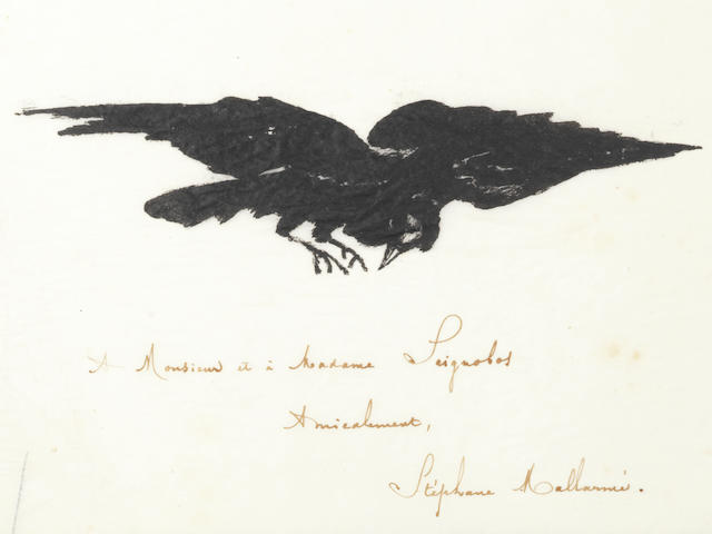 MANET (EDOUARD) POE (EDGAR ALLAN) Le Corbeau; The Raven: Poëme, traduction française de Stéphane Mallarmé avec illustrations par Edouard Manet, Paris, Richard Lesclide, 1875