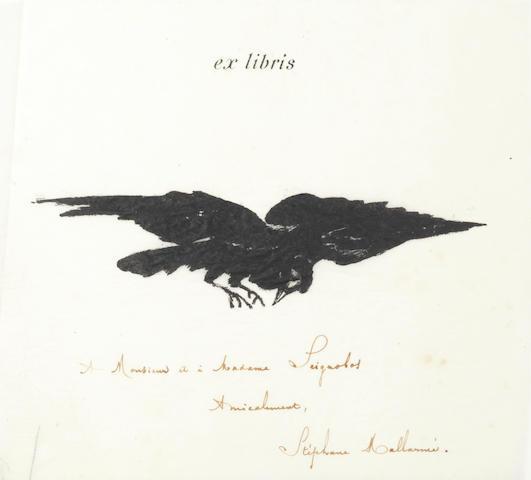 MANET (EDOUARD) POE (EDGAR ALLAN) Le Corbeau; The Raven: Poëme, traduction française de Stéphane Mallarmé avec illustrations par Edouard Manet, Paris, Richard Lesclide, 1875