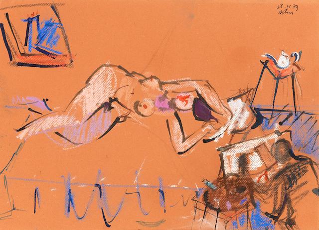 Jean Hélion  (1904-1987) Le songe, 1979