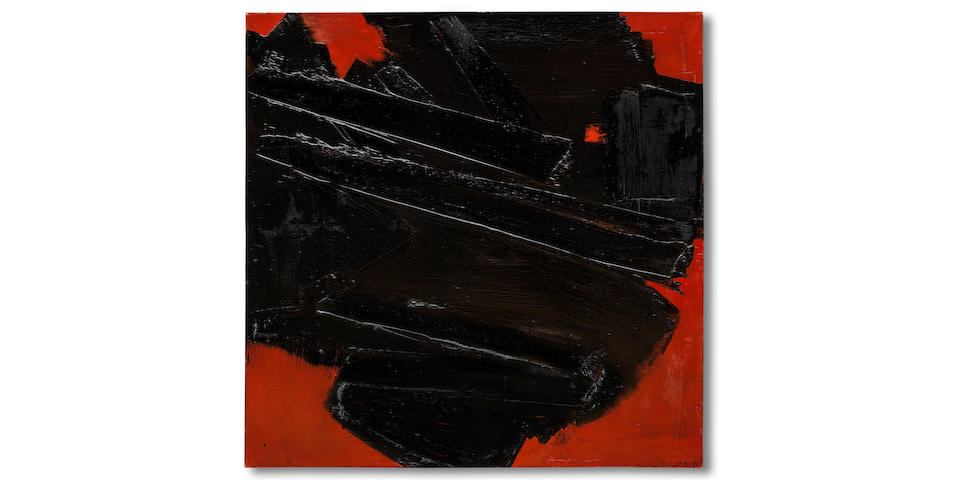Rouge et NoirSoulages Masterpiece offered at Bonhams Post-war & Contemporary