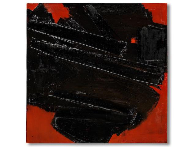 Pierre Soulages (French, born 1919) Peinture 128,5 x 128,5 cm, 16 décembre 1959 1959